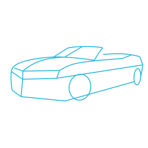How To Draw Cars: Chevrolet Camaro Convertible ZL1: Lesson