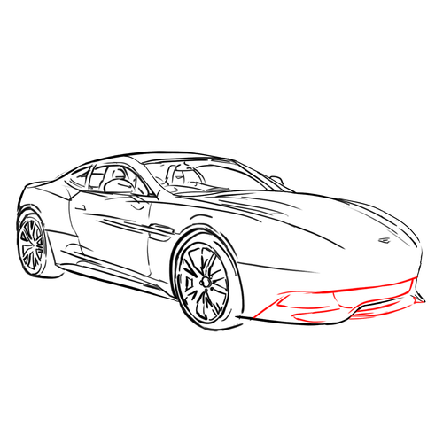 How To Draw Cars: ASTON MARTIN VANQUISH: Lesson