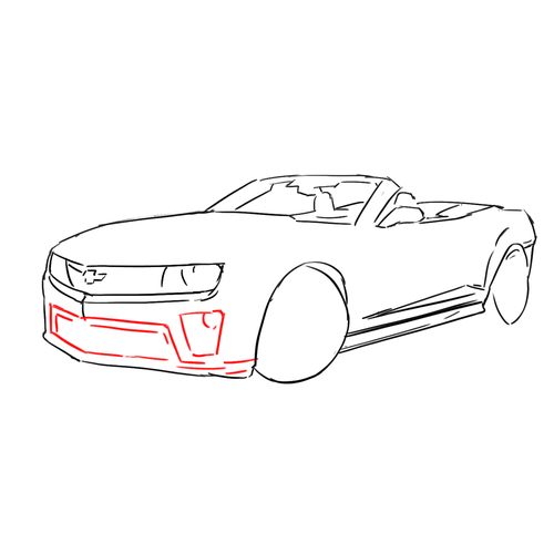 how to draw cars  chevrolet camaro convertible zl1  lesson